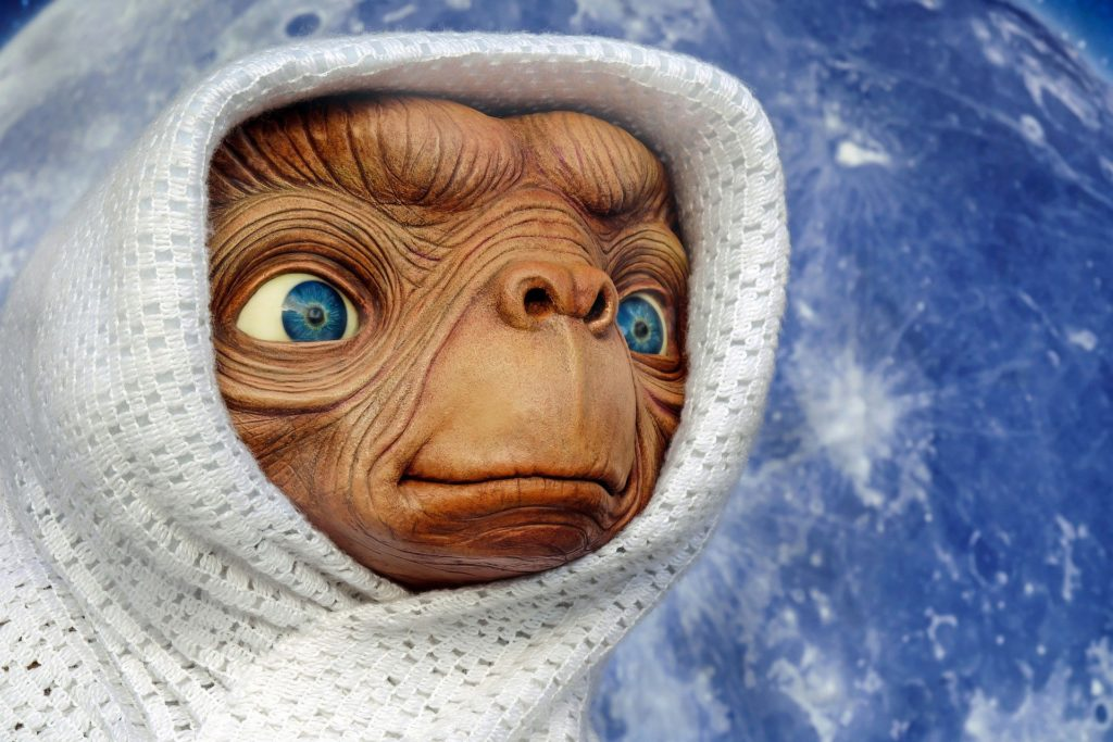 Alien de la película E.T (de Steven Spilberg) aliens, extraterrestres,ovnis