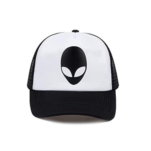 gorra de aliens blanco y negro, gorra con alien, alien gorra, gorra con extraterrestre, gorra de extraterrestre, gorra con marciano, alienígenas gorras, gorra con alienígena