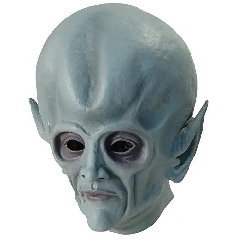 máscara de latex de marciano gris, máscara de alienígena gris, máscara de extraterrestre de latex, máscara de calidad