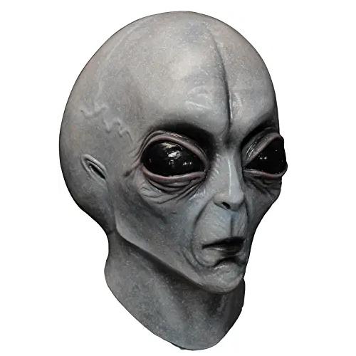máscara de latex, máscara de marciano extraterrestre gris, máscara de alienígena gris, máscara de visitante de otro planeta,máscara alien