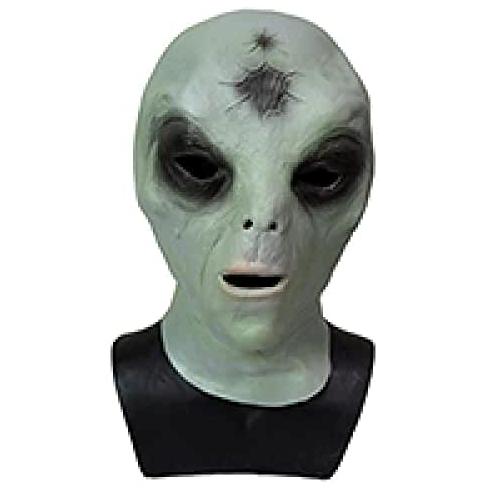 máscara de extraterrestre para hallowen, máscara de latex de marciano