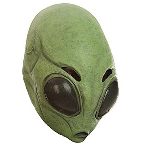 máscara de látex, máscara amazon, máscara de marciano verde, máscara de extraterrestre, máscara de monstruo, máscara de halloween extraterrestre