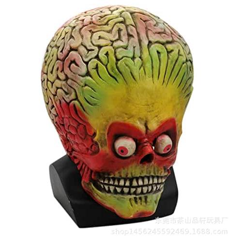 máscara de látex, máscara amazon, máscara de marciano, máscara de extraterrestre, máscara de monstruo, máscara de halloween, máscara mars attacks