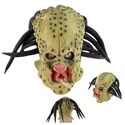 máscara de látex, máscara amazon, máscara de marciano, máscara de extraterrestre, máscara de monstruo, máscara de halloween, máscara predator