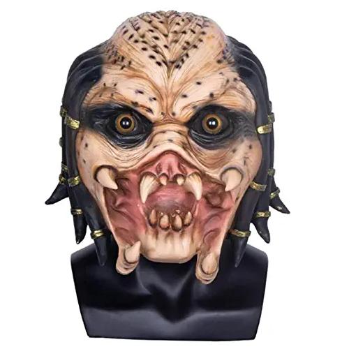 máscara de látex, máscara amazon, máscara de marciano, máscara de extraterrestre, máscara de monstruo, máscara de halloween, máscara predator,máscara alien