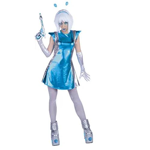 disfraz de mujer alienígena galáctica