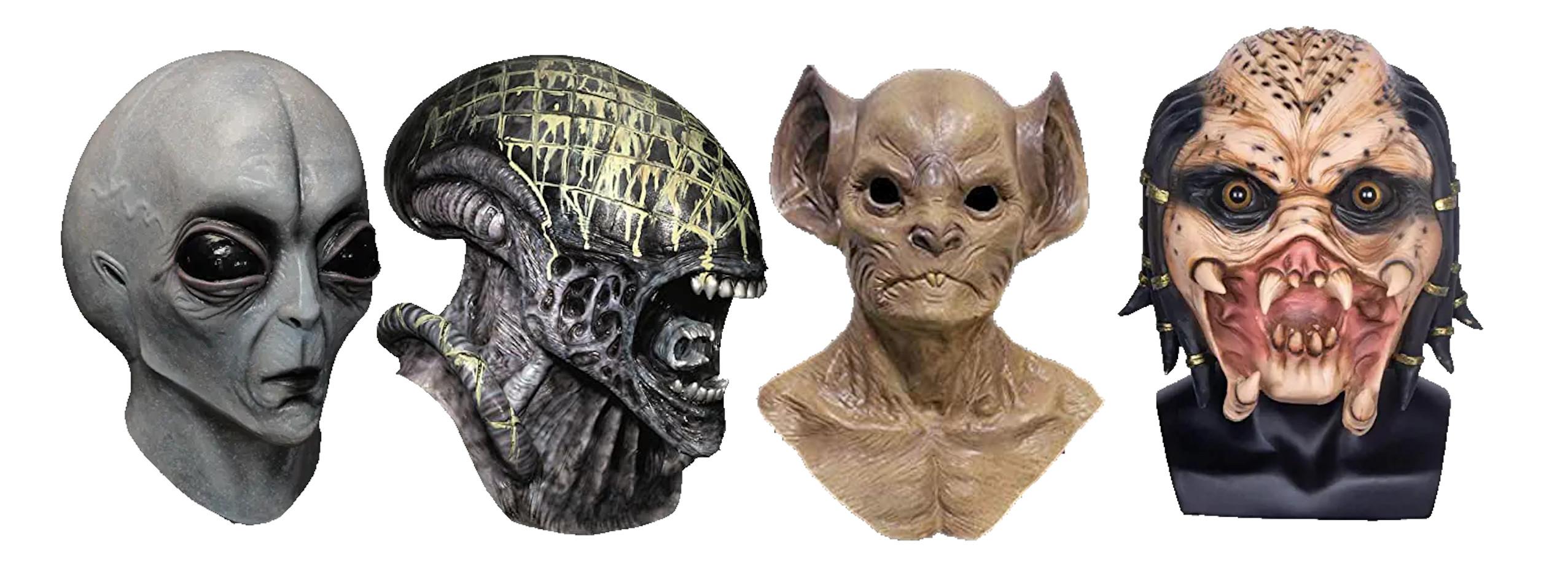 máscaras de aliens, máscaras de marcianos, máscaras de extraterrestres, máscaras de alienígenas