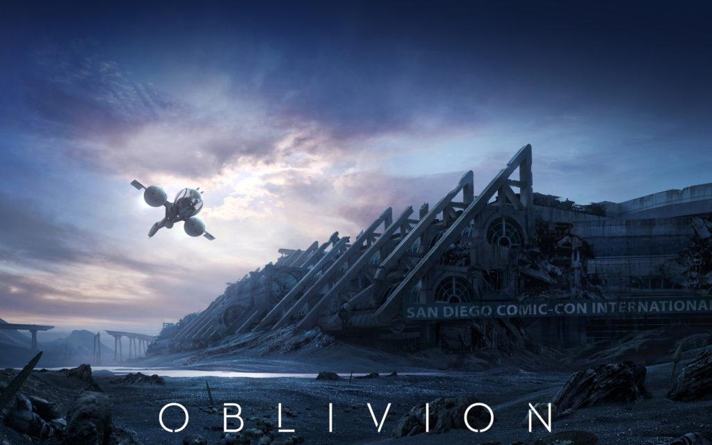 pelicula OBLIVION de Tom Cruise que va de invasiones extraterrestres