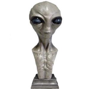 figuras de aliens, busto de alien gris, busto de extraterrestre gris, figura de extraterrestre, marciano figura