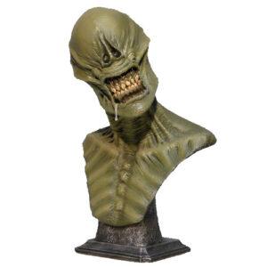 busto de alien xenomorfo de la pellicula de ciencia ficción, figura de fantasia, miedo, figura mutante