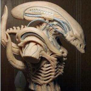 busto alien xenomorfo blanco, figura de alien, alien figura, figura de extraterrestre, pelicula alien el octavo pasajero, comprar figura de alien, merchandising alien