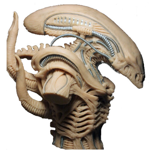 busto alien xenomorfo blanco, figura de alien, alien figura, figura de extraterrestre, pelicula alien el octavo pasajero, comprar figura de alien, merchandising alien, figuras de aliens