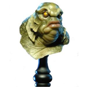 figura de aliens, busto anlienigena de andy bergholtz monsterpappa, figura de alienígena verde, figura de extraterrestre, figura de marciano verde, busto de extraterrestre
