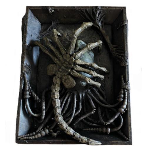 Facehugger escultura de pared, figuras de aliens, figura de extraterrestre, escultura de alienígena