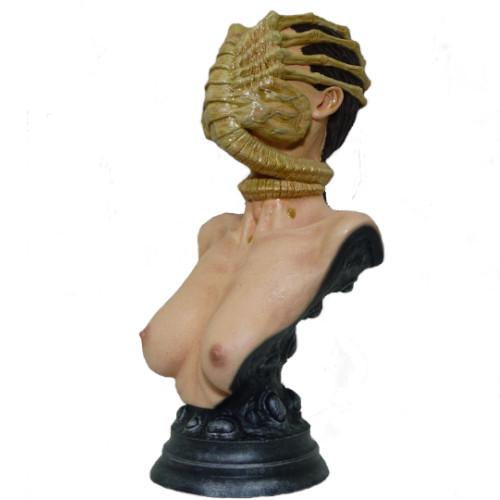 Facehugger busto de alien, escultura de alien, figura alienigena, figuras de aliens, busto extraterrestres, busto marciano