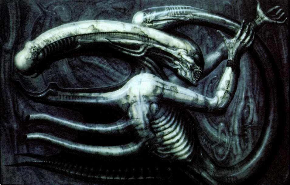 ilustracion de aliens llamada Necronom