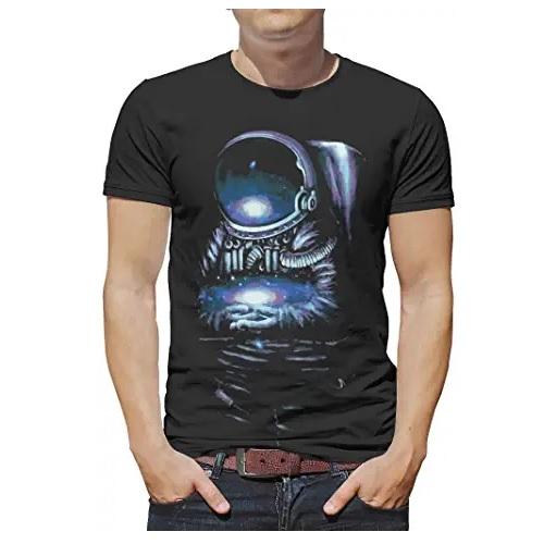 camiseta de la nasa negra con astronauta en ropa de la nasa en dealiens.shop