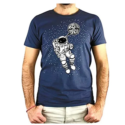 camiseta de la nasa azul con astronauta en ropa de la nasa en dealiens.shop