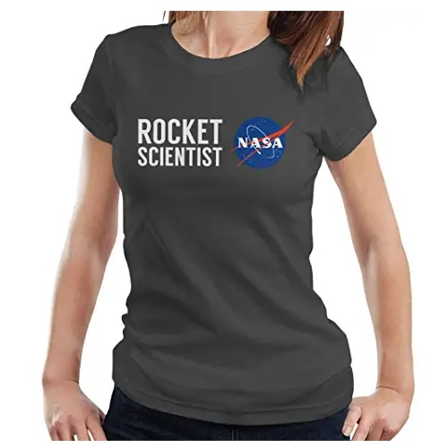 camiseta de la nasa de chica rocket scientist en ropa de la nasa en dealiens.shop