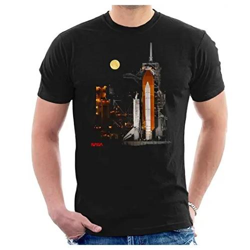 camiseta de la nasa con cohete espacial en ropa de la nasa en dealiens.shop