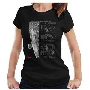 camiseta de la nasa de chica con planetas