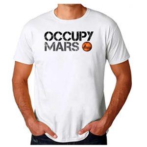 camiseta de la nasa planeta marte en ropa de la nasa en dealiens.shop