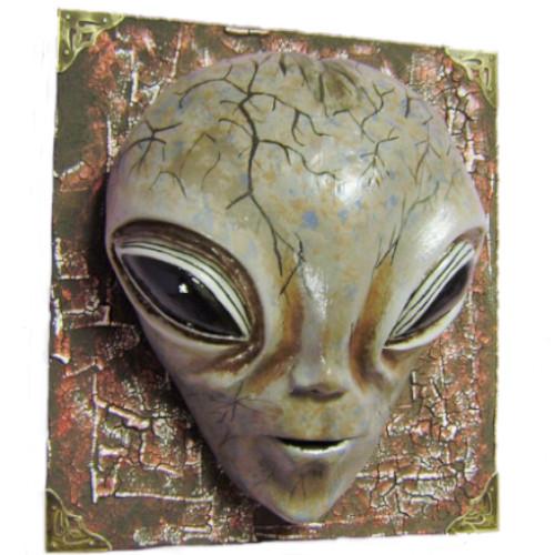 figura de ciencia ficción alienígena, Máscara decorativa de pared, extraterrestre escultura, figuras de extraterrestres clasicos