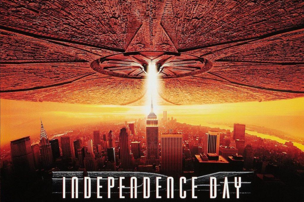 película Independence Day de Will Smith, que va sobre invasión extraterrestre  en categoria películas de extraterrestres