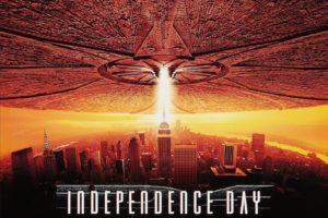 película Independence Day de Will Smith, que va sobre invasión extraterrestre
