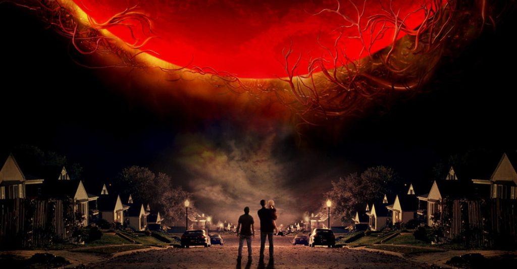 Pelicula la guerra de los mundos de Steven Spielberg y Tom cruise, que va de invasiones alienígenas  en categoria películas de extraterrestres