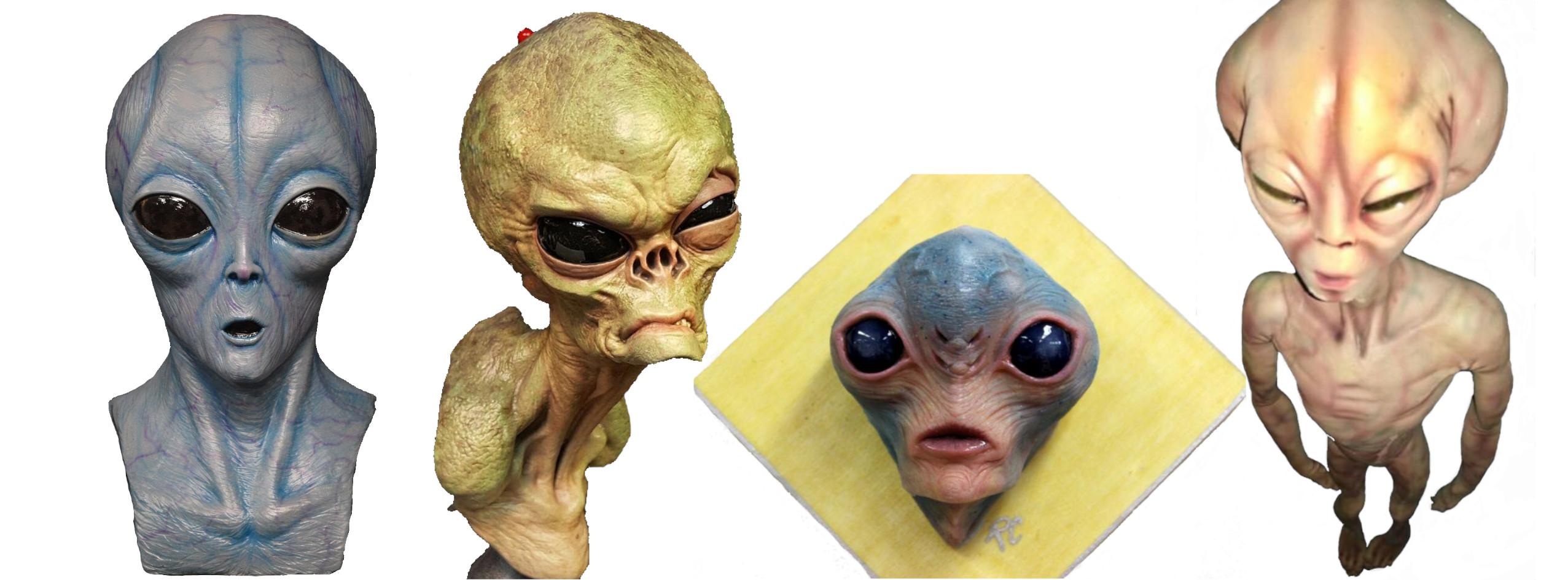figuras de extraterrestres y alienígenas, esculturas verticales de pared, adornos de pared alienígenas