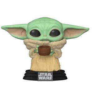 funko baby yoda, funkos de aliens, Funko-Pop Star Wars Mandalorian-The Child Cup Figura Coleccionable, funko pop baby yoda