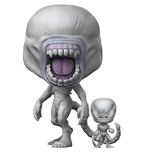 funkos de aliens, funko pop neomorfo albino con toddler