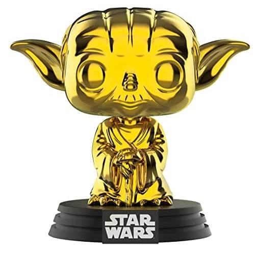 funkos de yoda cromado, funko pop yoda cromado en oro, STAR WARS Funko Pop Chrome Yoda