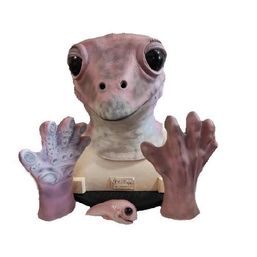 máscara de látex, , máscara de marciano, máscara de extraterrestre clásico, máscara de monstruo, máscara de halloween, mascara de lady frog