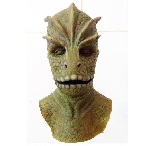 máscara de látex, , máscara de marciano, máscara de extraterrestre clásico, máscara de monstruo, máscara de halloween, mascara de lagarto