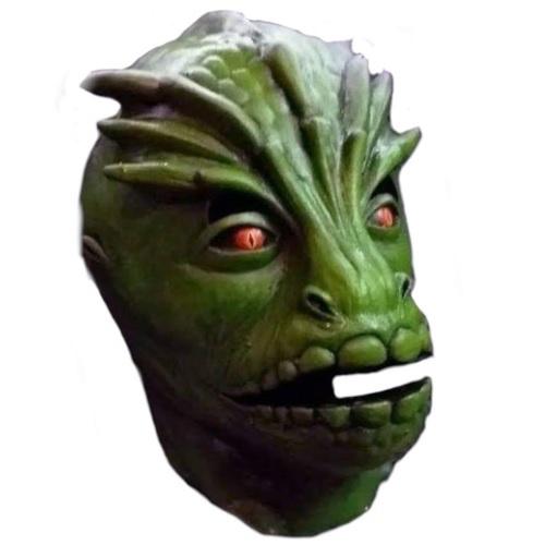 máscara de látex, , máscara de marciano, máscara de extraterrestre clásico, máscara de monstruo, máscara de halloween, mascara de lagarto V