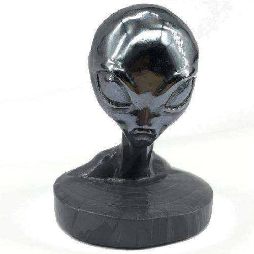 Busto alienígena de metal extraterrestres clasicos
