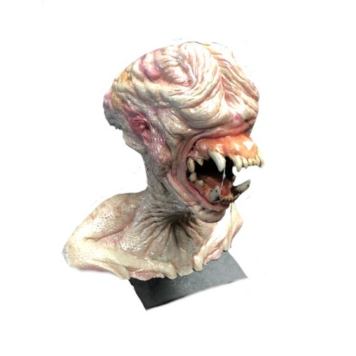 busto alienígena sin ojos
