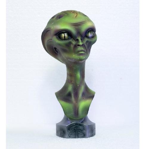 busto alienígena verde extraterrestres clasicos