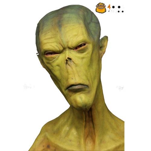 busto extraterrestre alien verde realista, extraterrestres clasicos