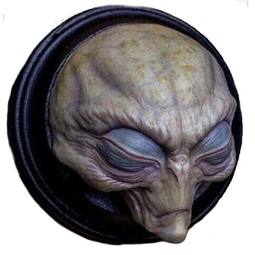 Alienigena de pared, extraterrestre de pared, placa alienígena de pared, placa alien de pared, extraterrestres clasicos