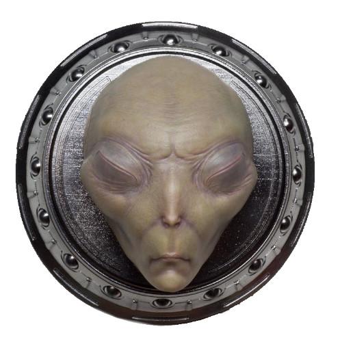 placa pared alien realista extraterrestre, extraterrestres clasicos