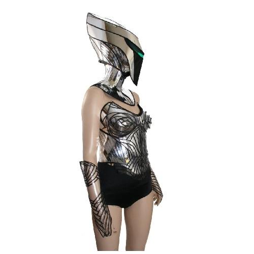 disfraz de alienígena de mujer, robot alienígena