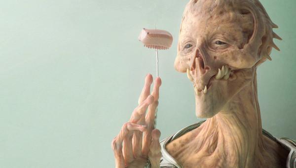 fondo de pantalla de extraterrestre original y realista